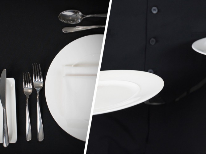 Laying up a place setting